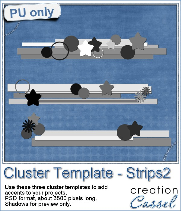 Cluster Templates in PSD format for scrapbooking