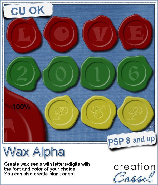 Wax alpha script for Paintshop Pro