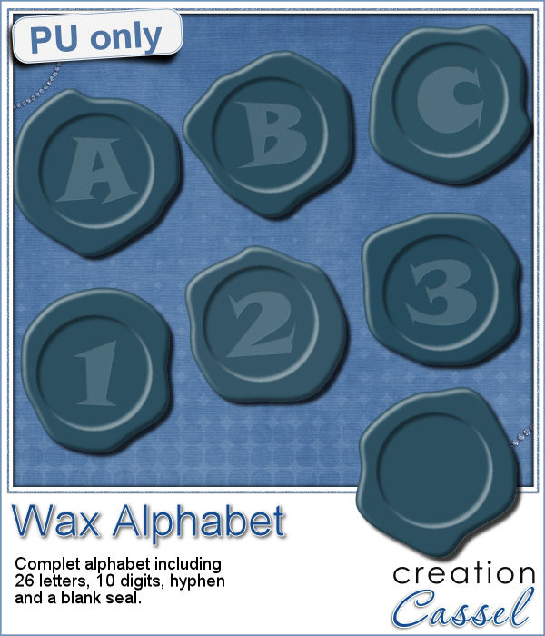 Wax seal alphabet