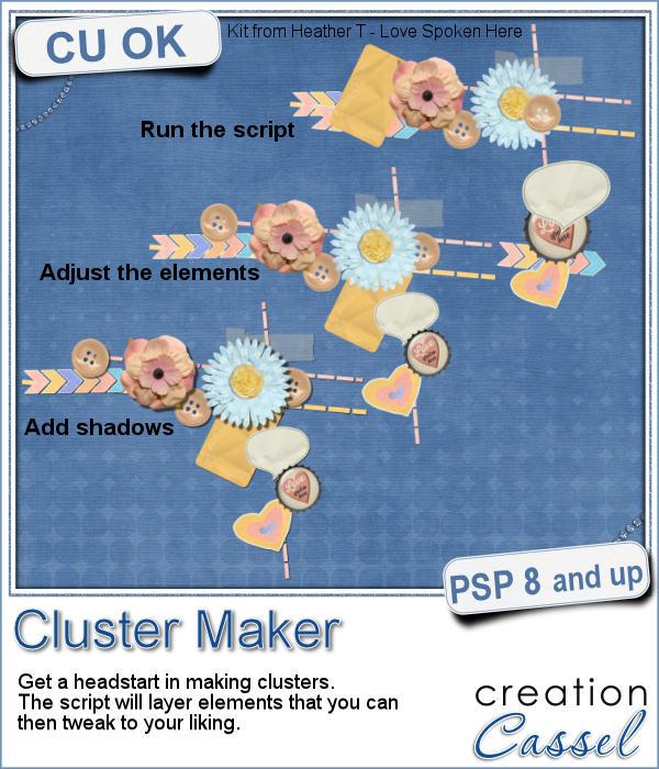 Cluster Maker script for Paintshop Pro
