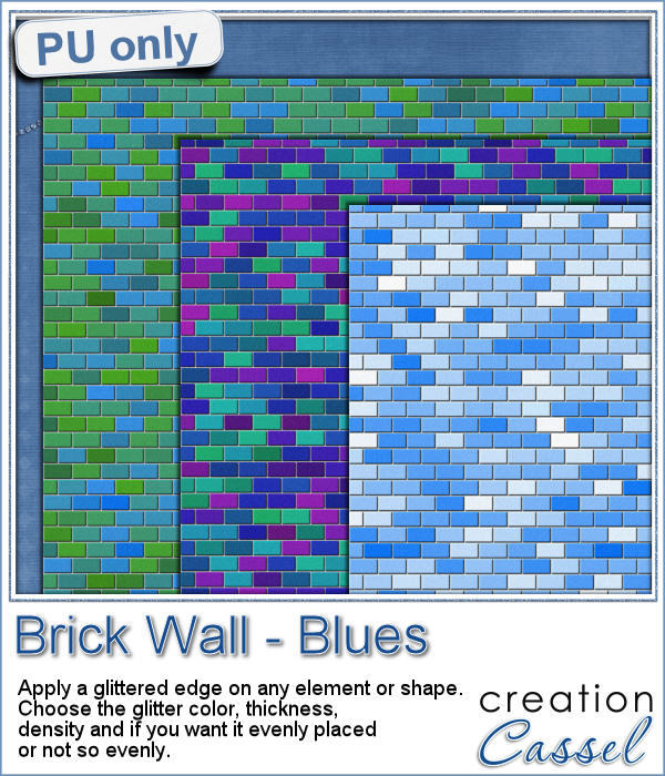 Brick wall papers - blue