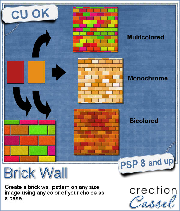 Brick wall script for Paintshop Pro