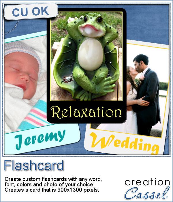 Flashcard script for Paintshop Pro