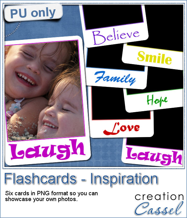 Inspiration flashcards in PNG format