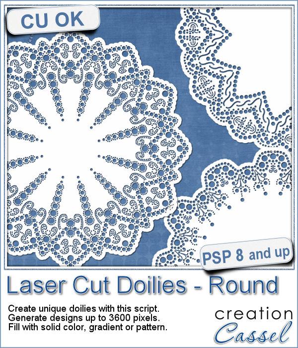 Laser Cut Doilies script for Paintshop Pro
