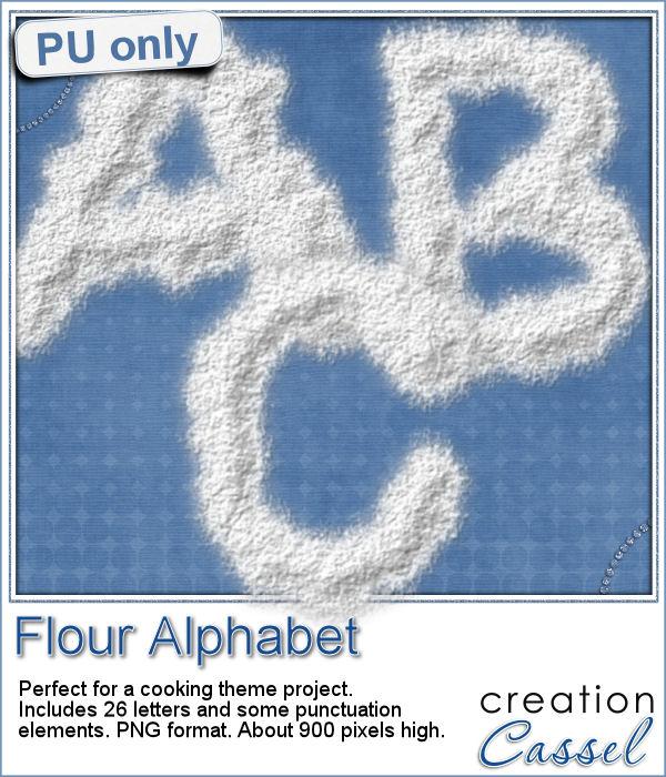 Flour alphabet freebie