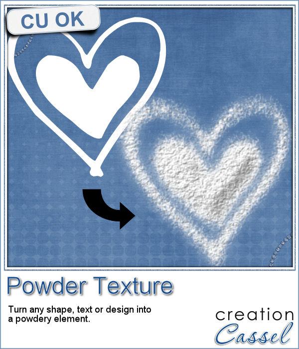 Powder texture script for Paintshop Pro