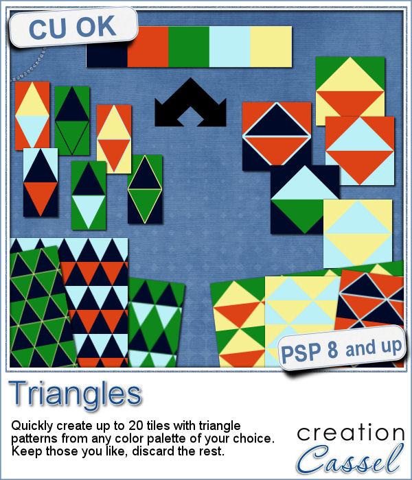Triangle pattern making script for Paintshop Pro