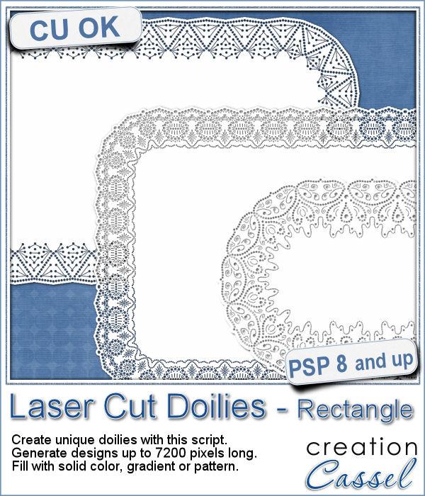 Rectangle Laser Cut Doilies - script for Paintshop Pro