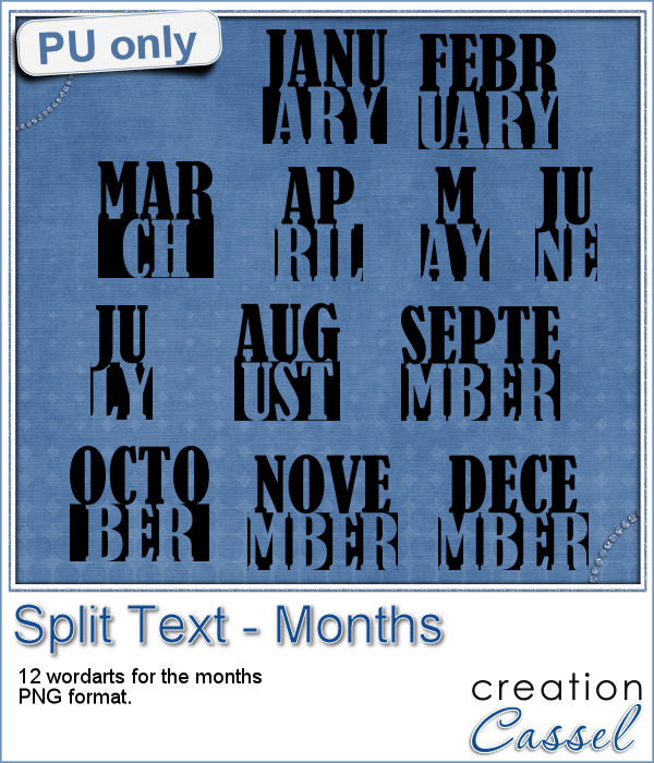 Split text months