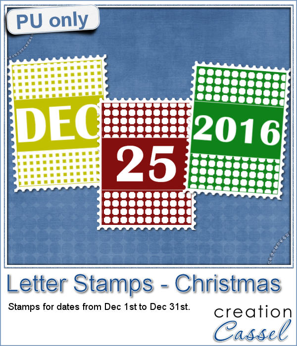 Letter Stamps Christmas theme freebie