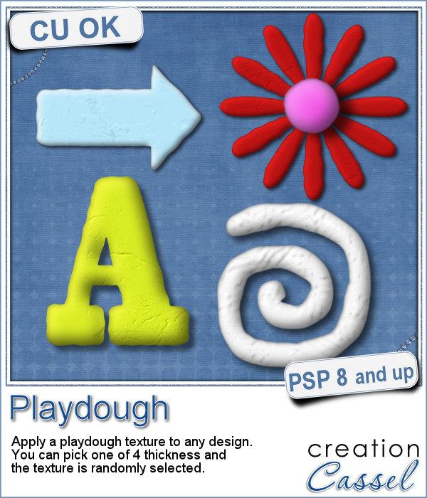 Playdough texture script for Paintshop Pro