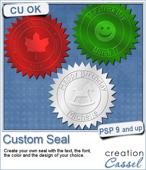 Custom Seal script for digital scrapbooking with Paintshop Pro