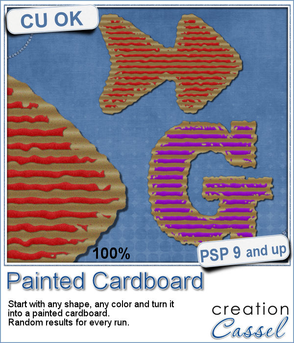 Painted Cardboard script for Paintshop Pro