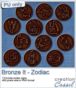 Bronze zodiac sign