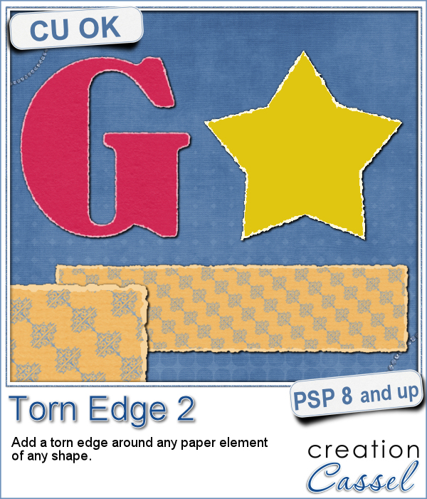 Torn edge script for Paintshop Pro
