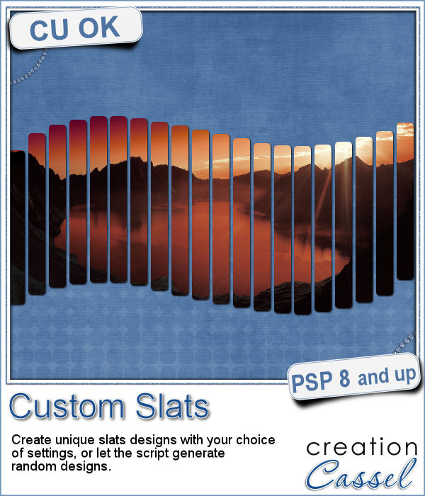 Custom slats script for Paintshop Pro