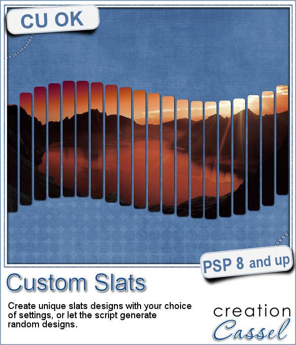 Custom slats script for Paintshop Pro