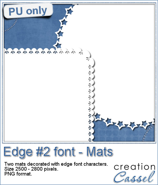 Edge font mats in png format