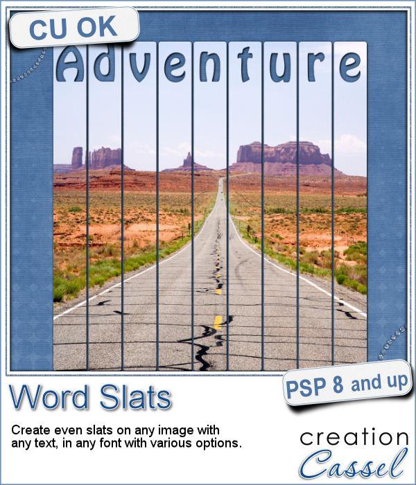 Word slats script for Paintshop Pro