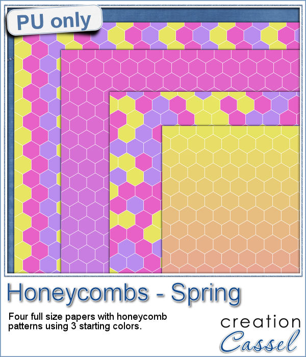 Honeycomb hexagon paper pattern