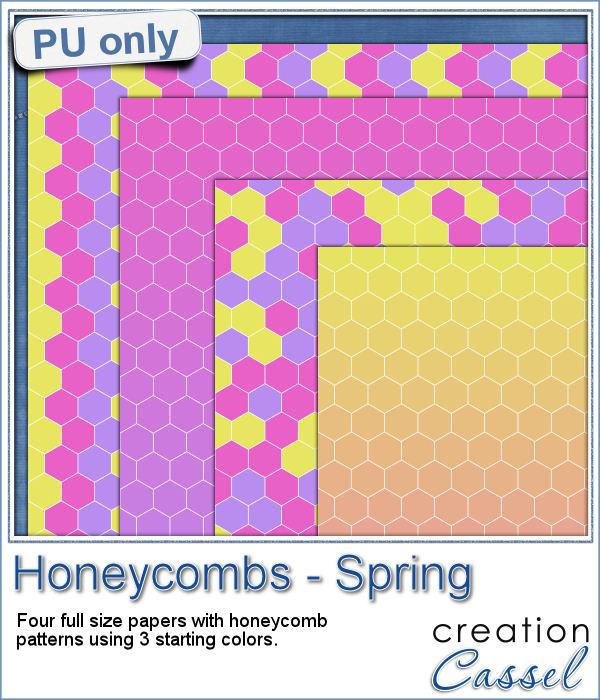 Honeycomb hexagon paper pattern