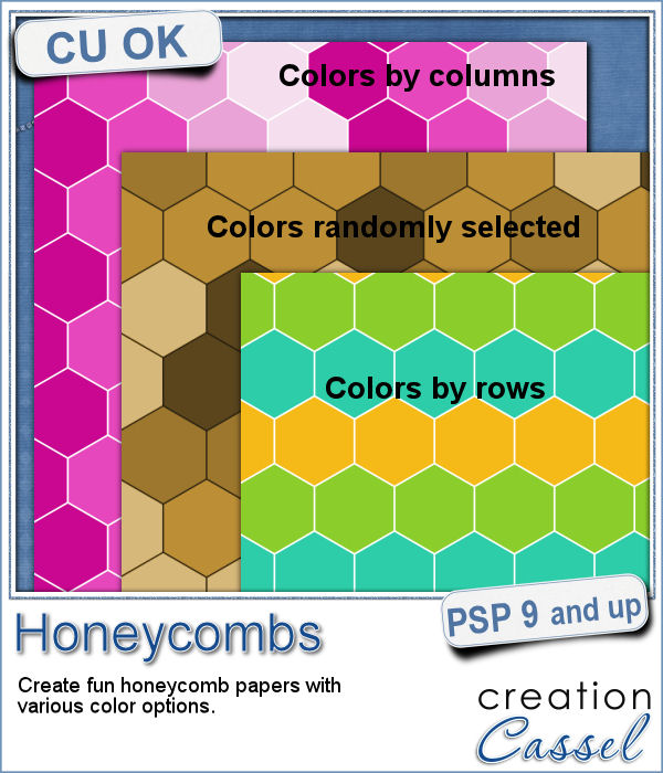 Honeycomb pattern script for Paintshop Pro