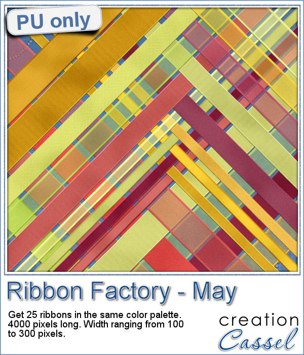 Straight ribbons in png format for scrapbooking