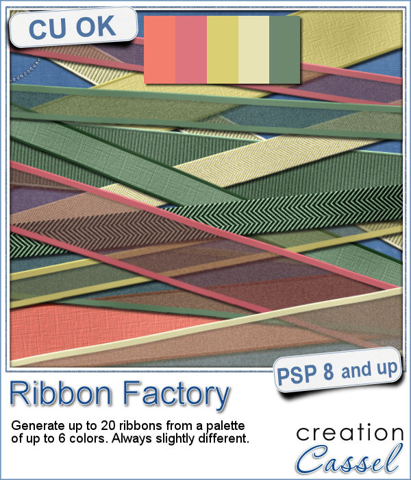 Ribbon making script for Paintshop pro