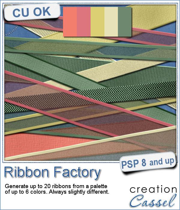 Ribbon making script for Paintshop pro