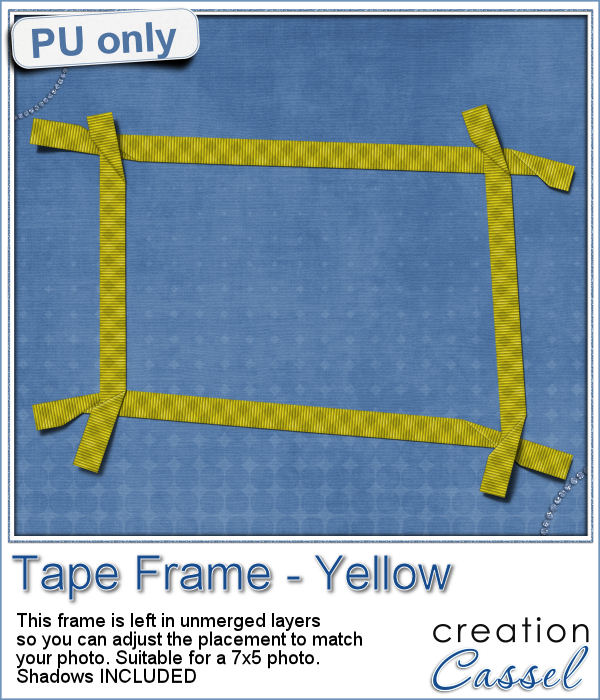 Tape frame in layered format