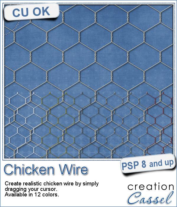 Chicken wire tubes for Paintshop Pro