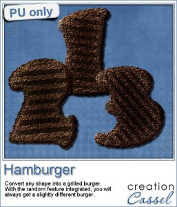 Hamburger digits in PNG format for digital scrapbooking