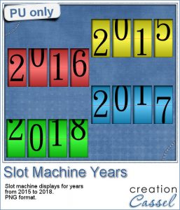 Slot machine Years in PNG format