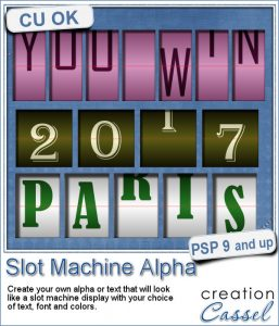 Slot Machine Alpha script for Paintshop Pro