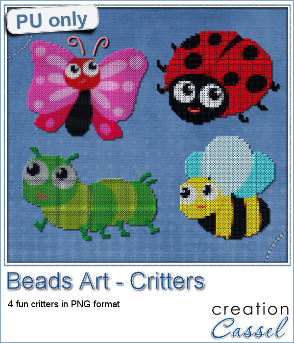 Critters made of beads