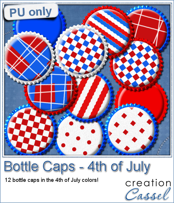 Bottle caps for 4th of July