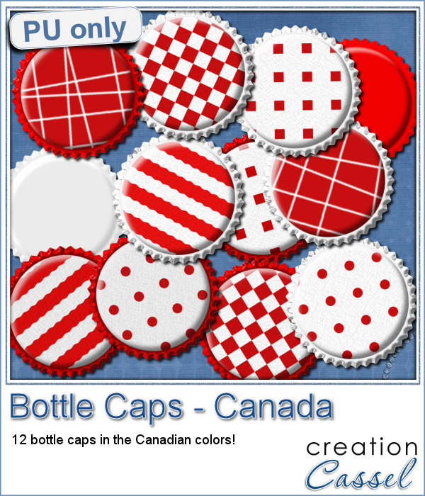 Bottle Caps for Canada Day