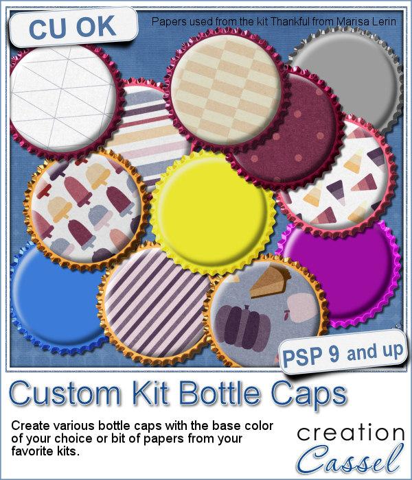 Custom Bottle Caps script for Paintshop Pro