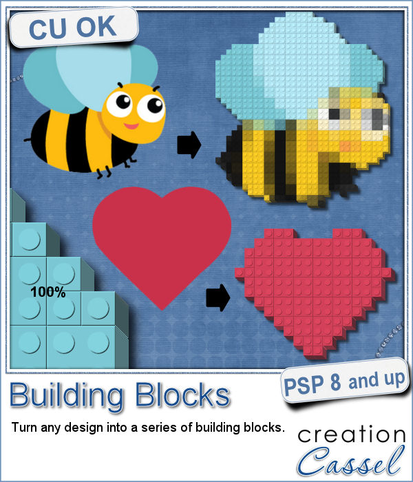 Building blocks script for Paintshop Pro