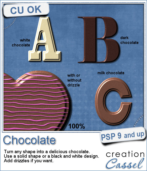 Chocolate script for Paintshop Pro
