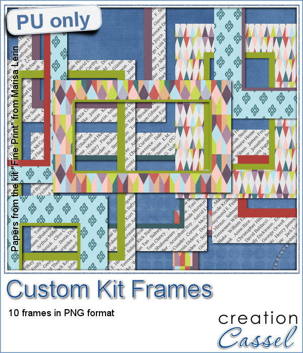 Custom Kit Frames for digital scrapbooking