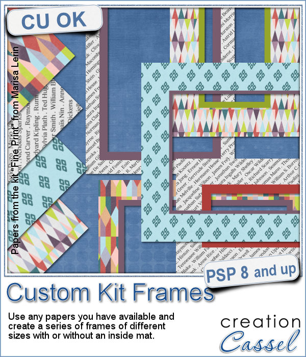 Custom Kit frame script for Paintshop Pro