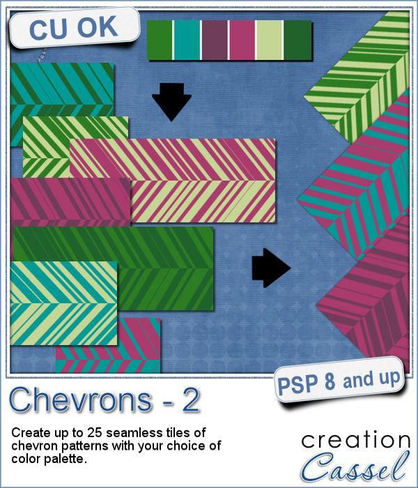 Chevrons pattern script
