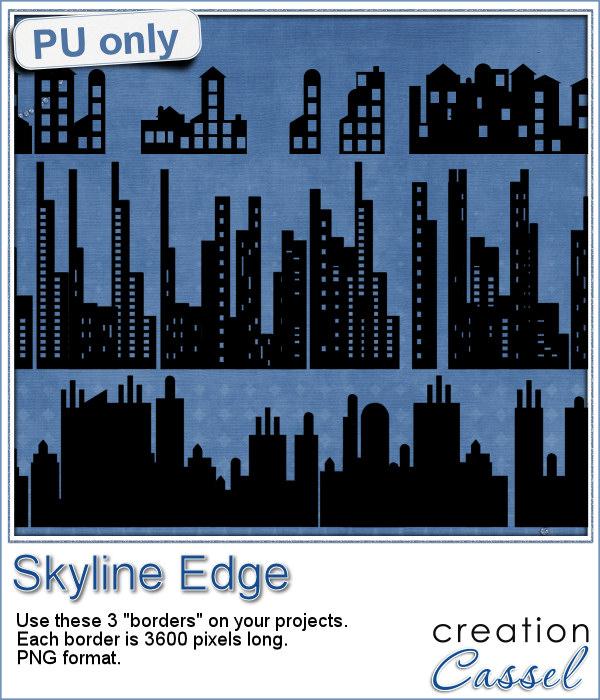Skyline border in png format