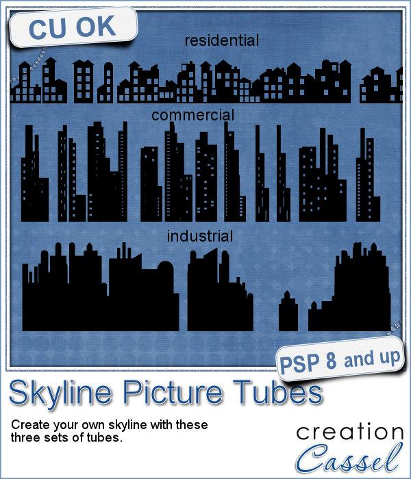 Skyline picture tubes for Paintshop Pro