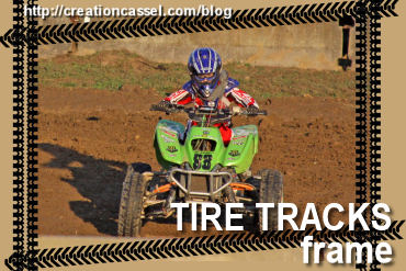 Tire Tracks Frame