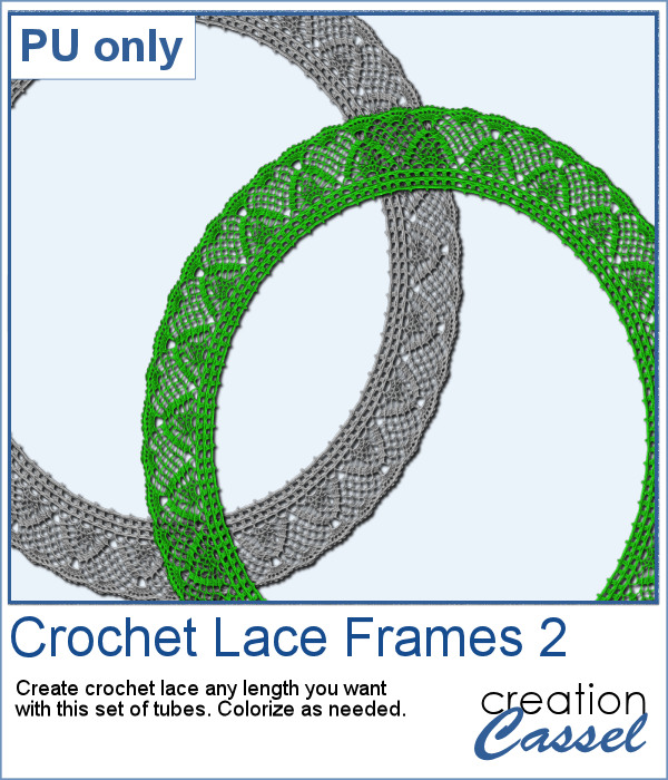 Crochet Lace frame in PNG format