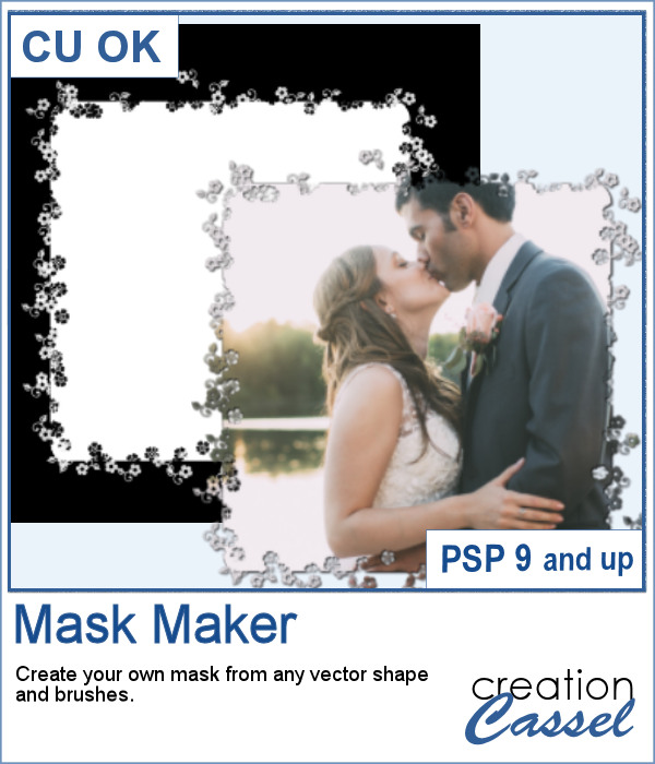 Mask Maker script for Paintshop Pro