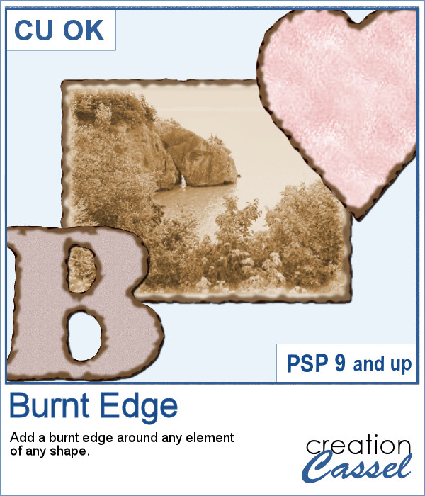 Burnt Edge script for Paintshop Pro